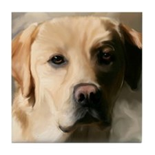 16x20YellowLab Tile Coaster