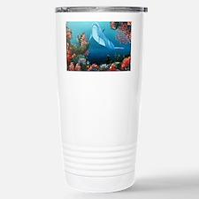 red dolphin copy Travel Mug
