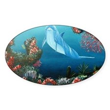 red dolphin copy Decal