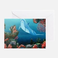 red dolphin copy Greeting Card