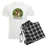 Greyhound holiday Men's Light Pajamas