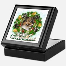 Merry Christmas Sheltie Keepsake Box