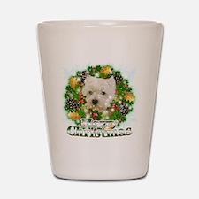 Merry Christmas Westie Shot Glass