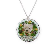 Merry Christmas Westie Necklace