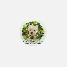 Merry Christmas Westie Mini Button