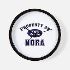 Property of nora Wall Clock