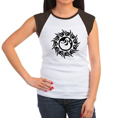 Tribal Polar Bear Women's Cap Sleeve T-Shirt