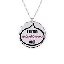 Im_the_mischievous Necklace Circle Charm