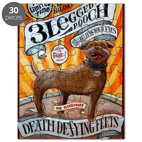 floyd feets poster 23x35 three legged dog p Puzzle