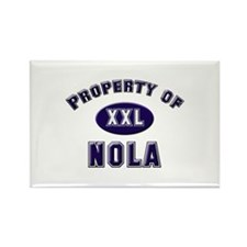 Property of nola Rectangle Magnet