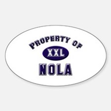 Property of nola Oval Decal