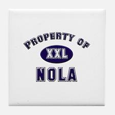 Property of nola Tile Coaster