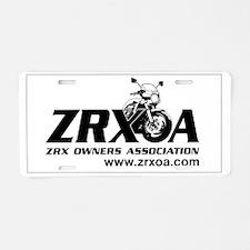 ZRXOA Aluminum License Plate