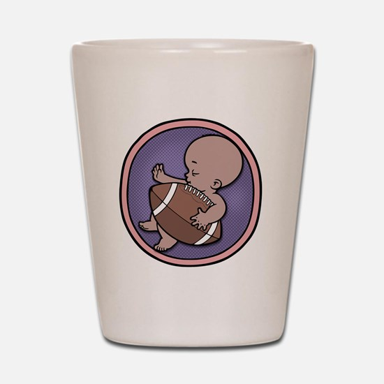 football-wombie-DS-T Shot Glass