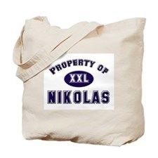 Property of nikolas Tote Bag