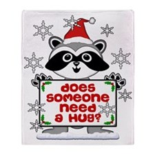 NEED A HUG RACCOON best Throw Blanket