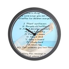 amy_framedprint Wall Clock