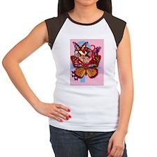 ankh butterflies pink i Women's Cap Sleeve T-Shirt
