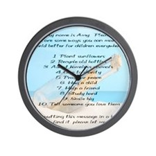 amy_mousepad Wall Clock