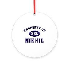 Property of nikhil Ornament (Round)