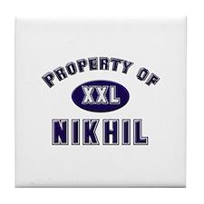 Property of nikhil Tile Coaster