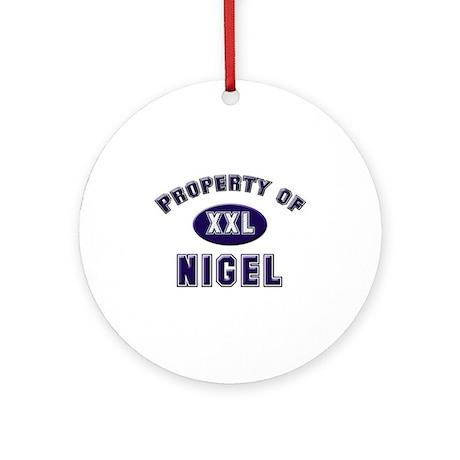 Property of nigel Ornament (Round)