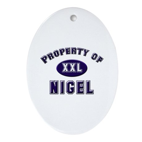 Property of nigel Oval Ornament