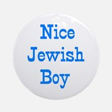 nice jewish boy Round Ornament