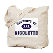 Property of nicolette Tote Bag