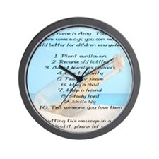 amy_smallposter Wall Clock