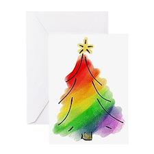 rainbow-xmas-tree_tr Greeting Card