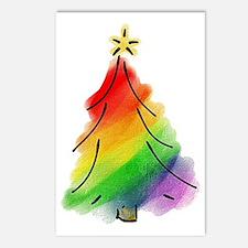 rainbow-xmas-tree_tr Postcards (Package of 8)