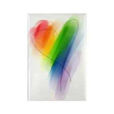 watercolor-rainbow-heart_tr Rectangle Magnet