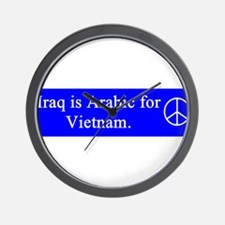 support_our_troops_red_on_white.png Wall Clock