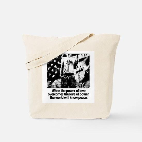 Peace Power Hendrix Light Tote Bag