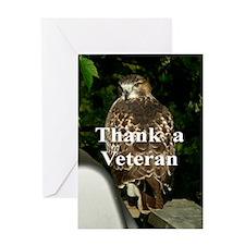 Hawk2.34x3.2 Greeting Card