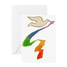 rainbow-wedding-dove_bl Greeting Card