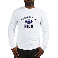 Property of nico Long Sleeve T-Shirt