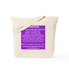 DystoniaTShirt6 Tote Bag