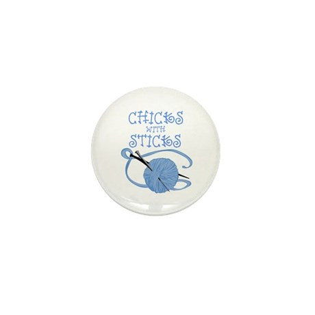 Chicks With Sticks 2 Mini Button