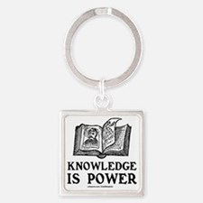 knowledge is power Square Keychain