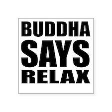 "buddha copy Square Sticker 3"" x 3"""