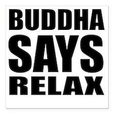 "buddha copy Square Car Magnet 3"" x 3"""