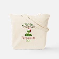 Custom 1st Christmas Tote Bag