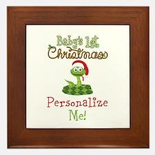 Custom 1st Christmas Framed Tile