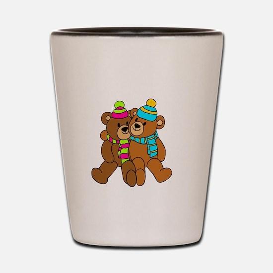 Bear Big Sis -dk Shot Glass