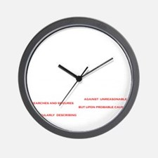 TSA The Law Wall Clock