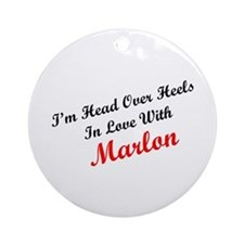 In Love with Marlon Ornament (Round)