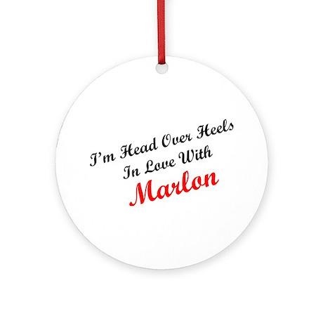 In Love with Marlon Ornament (Round)