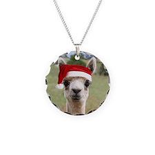 Sheba Alpaca at Christmas Necklace